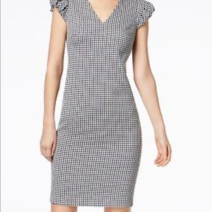 Calvin Klein princess sleeve gingham dress